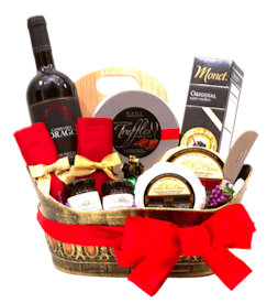 Basket Chocolate, Wine and Cheese