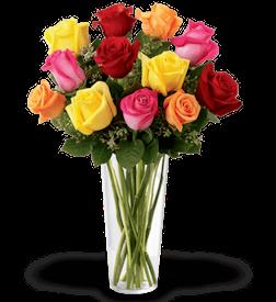 35 mixed roses